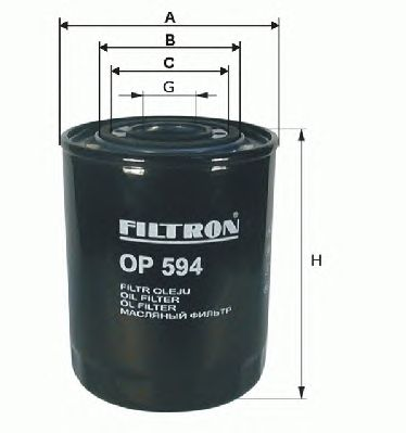 Масляный фильтр FILTRON OP594/1