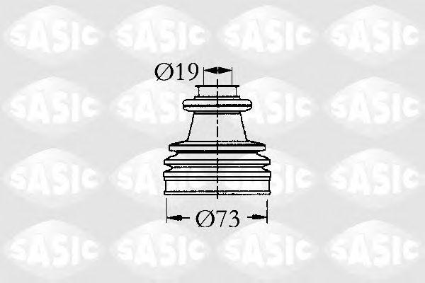 Комплект пыльника ШРУСа SASIC 2933813