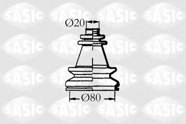 Комплект пыльника ШРУСа SASIC 4003454
