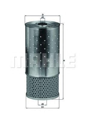 Масляный фильтр MAHLE ORIGINAL OX 78D1