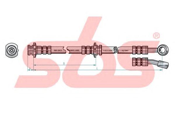 Тормозной шланг sbs 13308522111