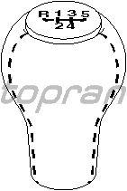 Ручка рычага переключения передач TOPRAN 109 072