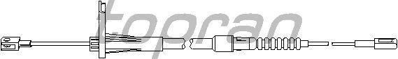 Трос, тормозной механизм рабочей тормозной системы TOPRAN 401 653