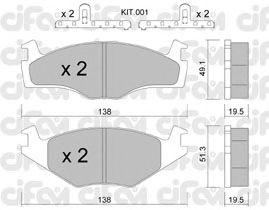 Тормозные колодки CIFAM 822-045-1K