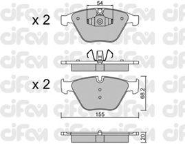 Тормозные колодки CIFAM 822-558-6