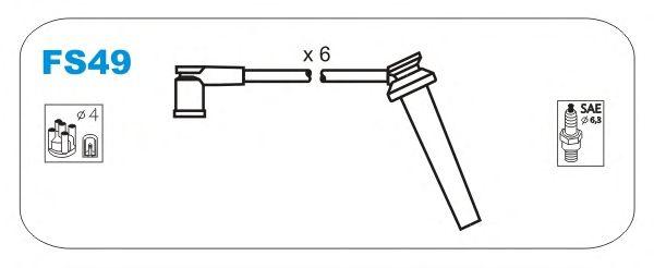 Комплект высоковольтных проводов JANMOR FS49
