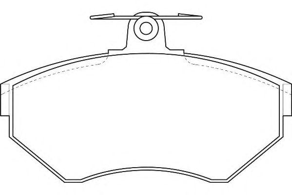 Тормозные колодки WAGNER WBP21945A