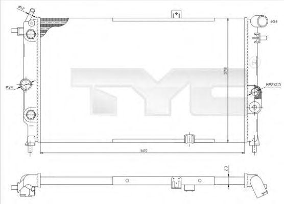 Радиатор, охлаждение двигателя TYC 725-0001-R