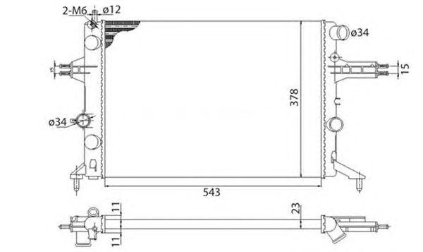 Радиатор, охлаждение двигателя MAGNETI MARELLI 350213960003