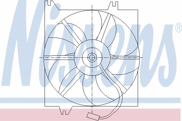 Вентилятор охлаждения NISSENS 85085