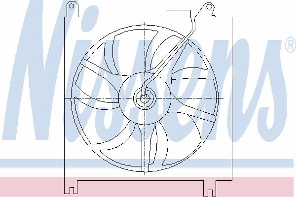 Вентилятор кондиционера NISSENS 85415