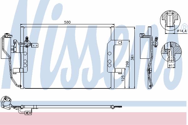 Радиатор кондиционера NISSENS 94588