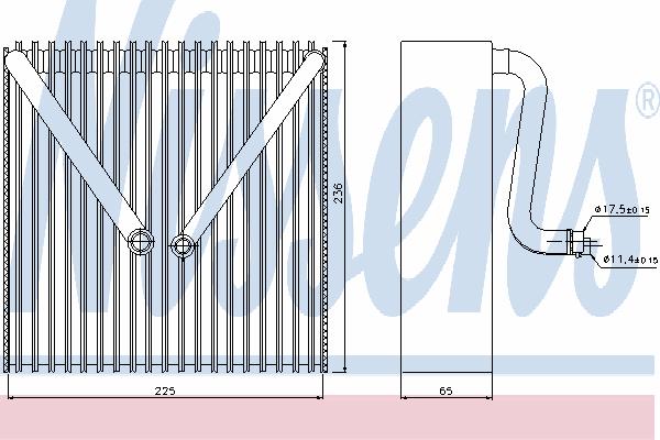 Испаритель кондиционера NISSENS 92191