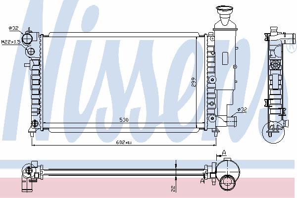 Радиатор, охлаждение двигателя NISSENS 63537A