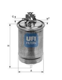 Топливный фильтр UFI 24.430.00