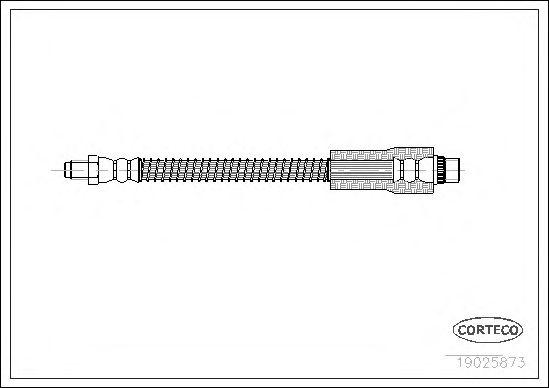 Тормозной шланг CORTECO 19025873