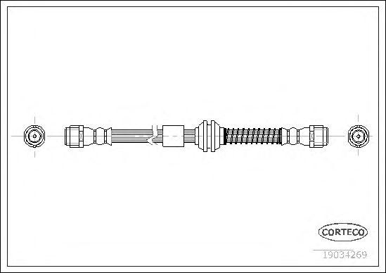 Тормозной шланг CORTECO 19034269