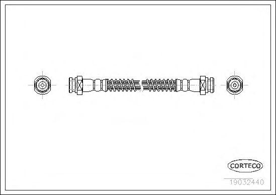 Тормозной шланг CORTECO 19032440
