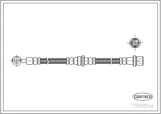 Тормозной шланг CORTECO 19032518