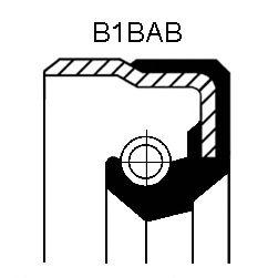 Уплотнительное кольцо CORTECO 01020678B (раздаточная коробка, ступица колеса)
