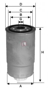 Топливный фильтр SOFIMA S 1H2O NR