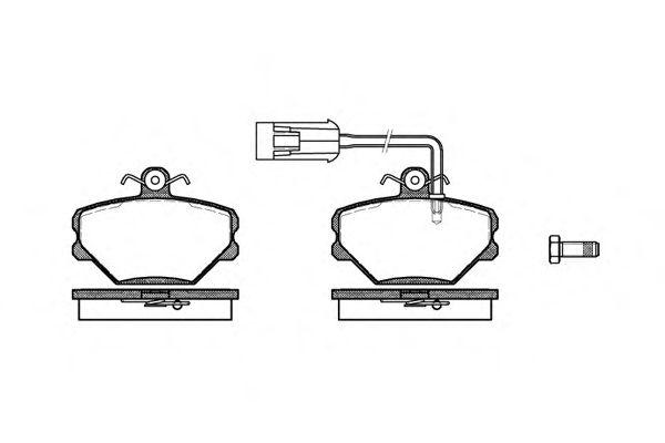 Тормозные колодки REMSA 0264.42
