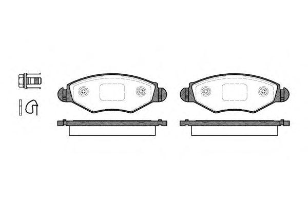 Тормозные колодки REMSA 0643.20