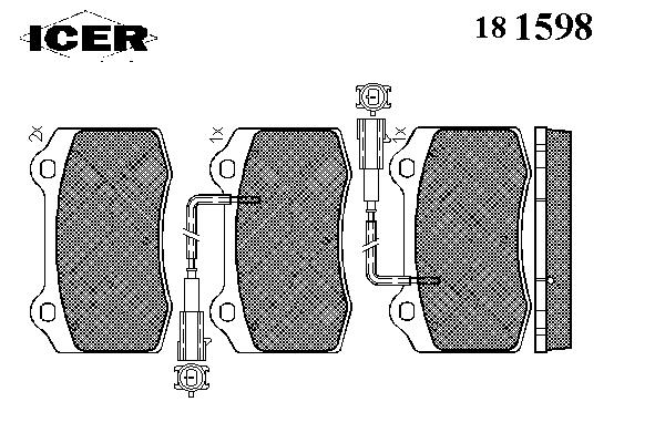 Тормозные колодки ICER 181598