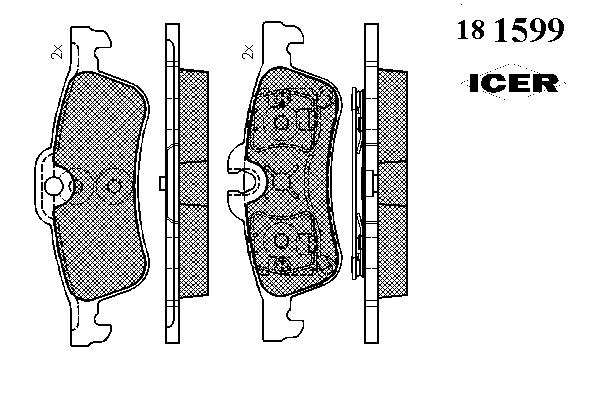 Тормозные колодки ICER 181599