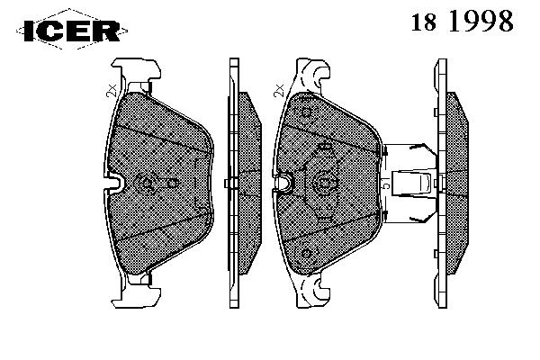 Тормозные колодки ICER 181998