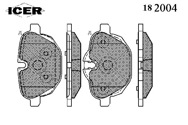 Тормозные колодки ICER 182004