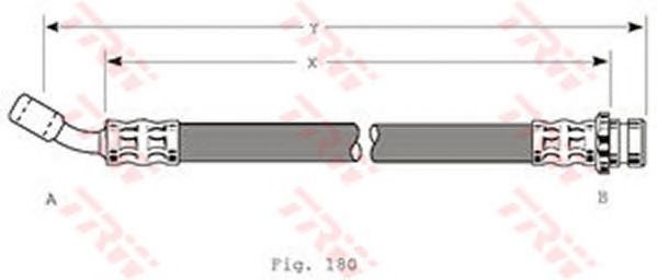 Тормозной шланг TRW PHD200