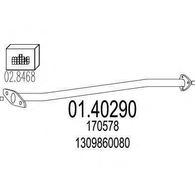 Труба выхлопного газа MTS 01.40290