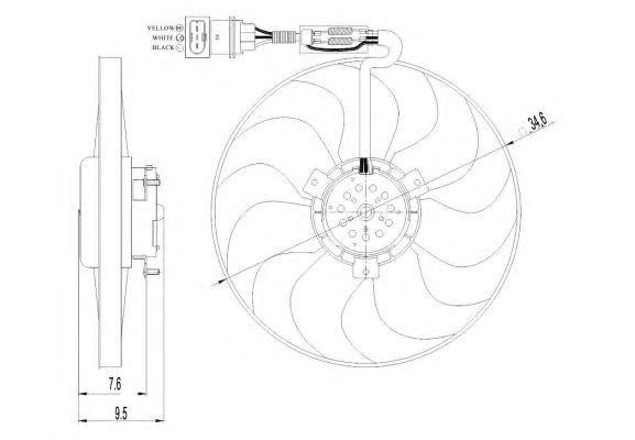 Вентилятор охлаждения NRF 47064