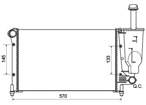 Радиатор, охлаждение двигателя NRF 53128