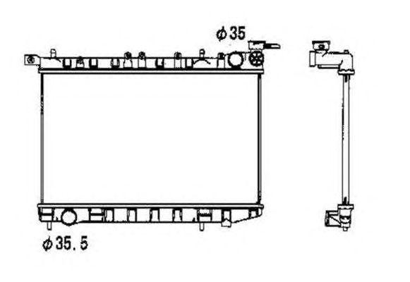 Радиатор, охлаждение двигателя NRF 53341