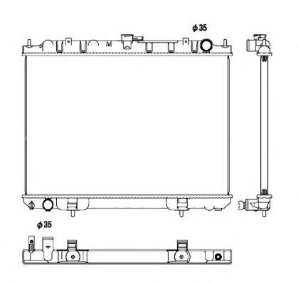 Радиатор, охлаждение двигателя NRF 53450