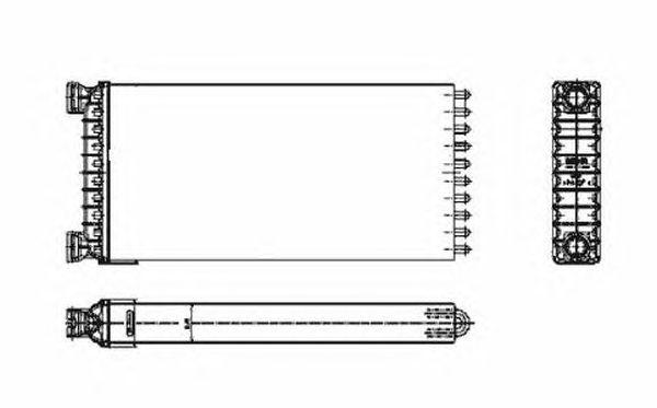 Радиатор отопителя NRF 53549