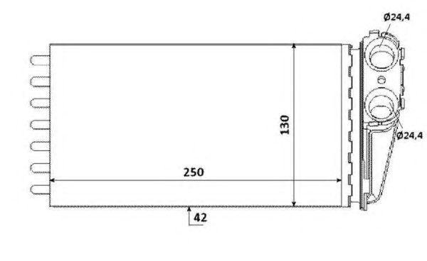 Радиатор отопителя NRF 53560