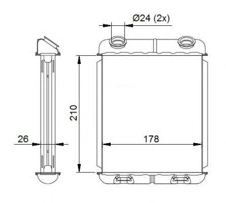Радиатор отопителя NRF 53669