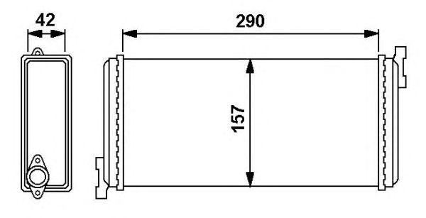 Радиатор отопителя NRF 54240