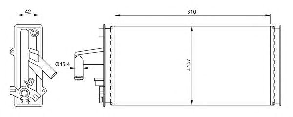 Радиатор отопителя NRF 54259