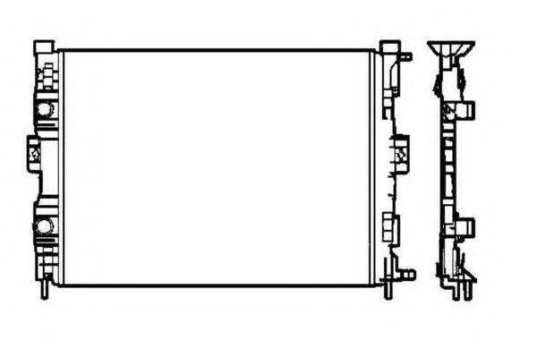 Радиатор, охлаждение двигателя NRF 58328
