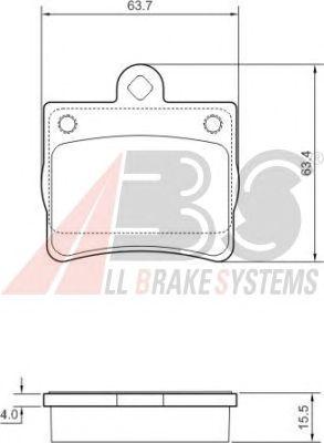 Тормозные колодки A.B.S. 37006