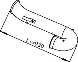 Труба выхлопного газа DINEX 21745