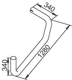 Труба выхлопного газа DINEX 50691