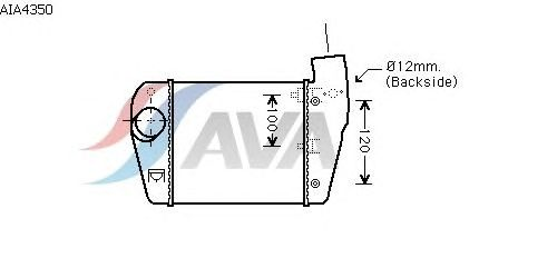 Интеркулер AVA QUALITY COOLING AIA4350