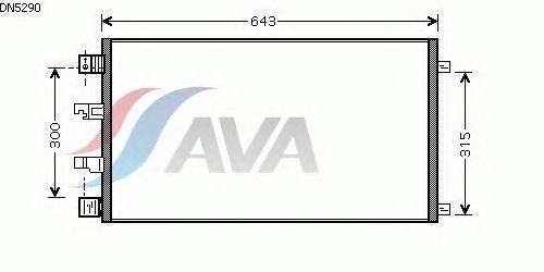 Радиатор кондиционера AVA QUALITY COOLING DN5290