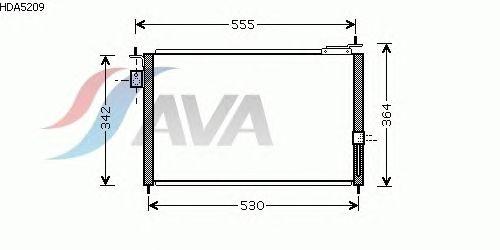 Радиатор кондиционера AVA QUALITY COOLING HDA5209