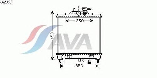 Радиатор, охлаждение двигателя AVA QUALITY COOLING KA2063